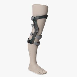 upright knee brace model