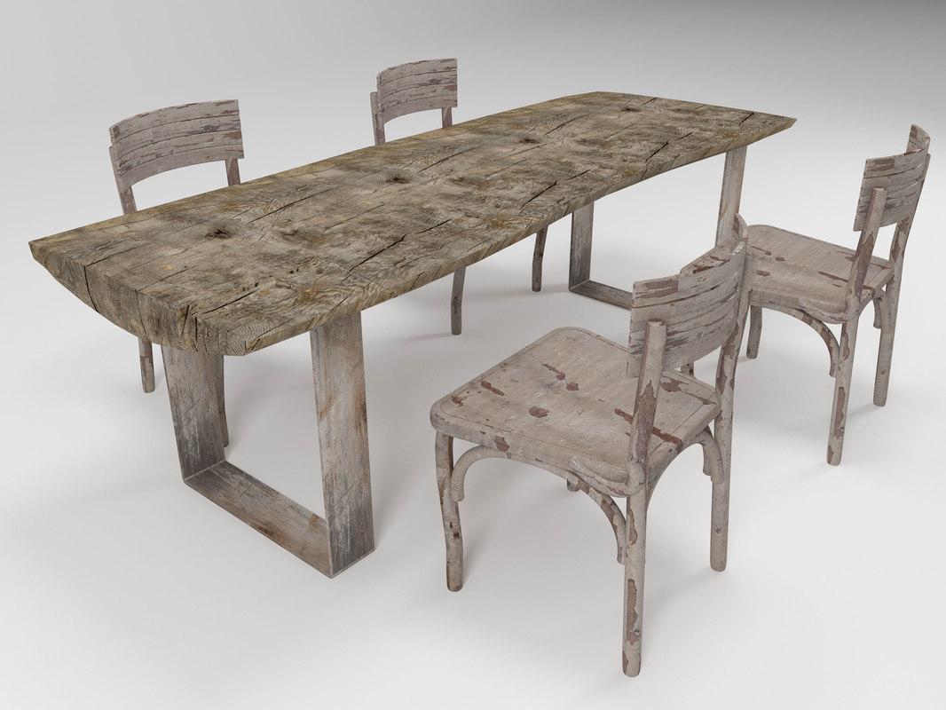 massive table chair model