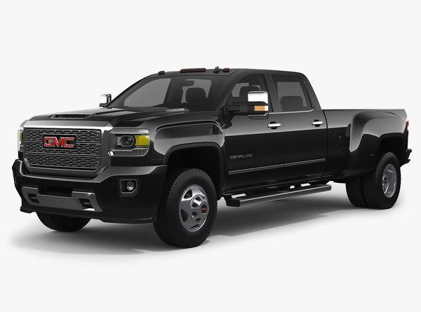 3D 2018 gmc sierra 3500hd model