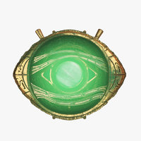 eye agamotto rigged 3D model