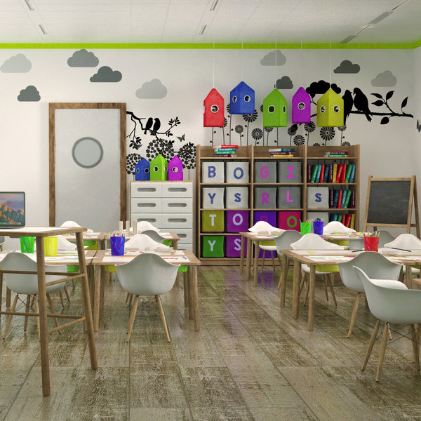 children s classroom 3D model