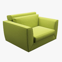 3D sofa realistic photorealistic model