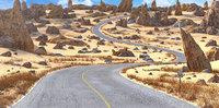 Desert Road Cartoon