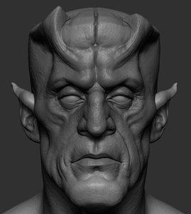 creature head ztl 3D model