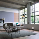 Industrial loft interior scene