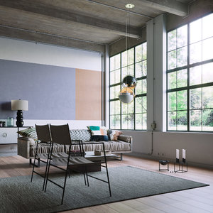 industrial interior scene model
