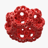 interior acces fractal 3D model
