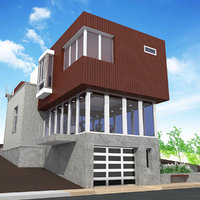 work space house 3D model