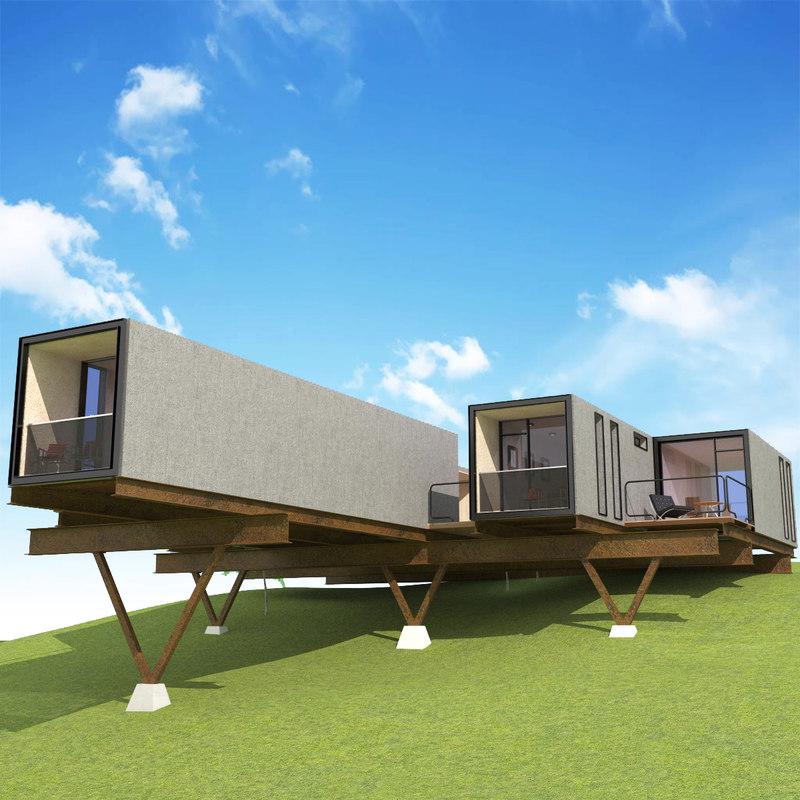 concrete house 3D model