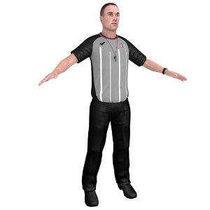 3D model basketball referee