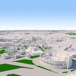 rome cityscape 3D model