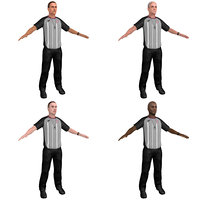 3D pack basketball referee model