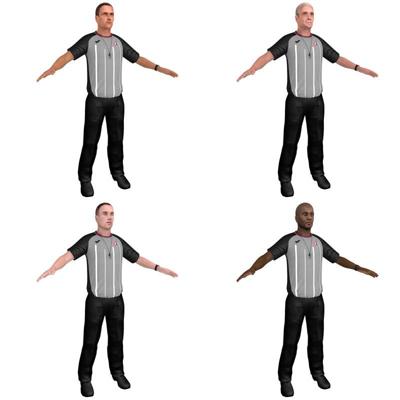 3D pack basketball referee model