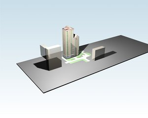 3D project multi-storey residential building