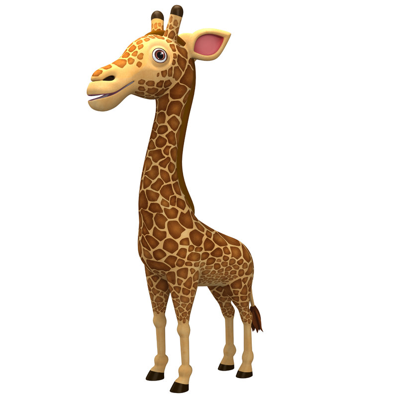 3D model cute giraffe