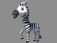 cute zebra 3D model