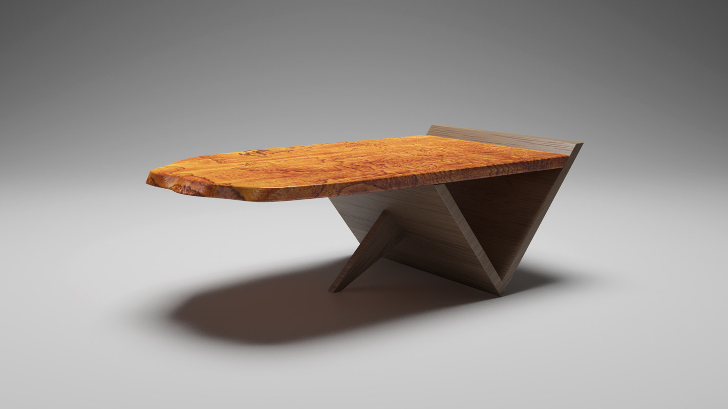 3D modern coffee table model