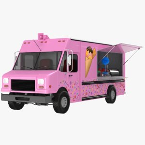 ice cream candy truck model