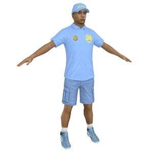 zoo worker 3D model