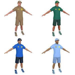 pack zoo worker 3D