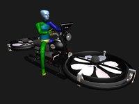 hybrid hover bike 3D model