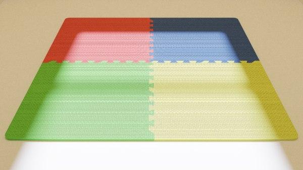 3D foam puzzle mat