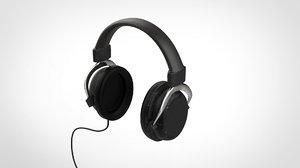 styles qpad headphones 3D model