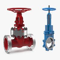 3D gate valves model