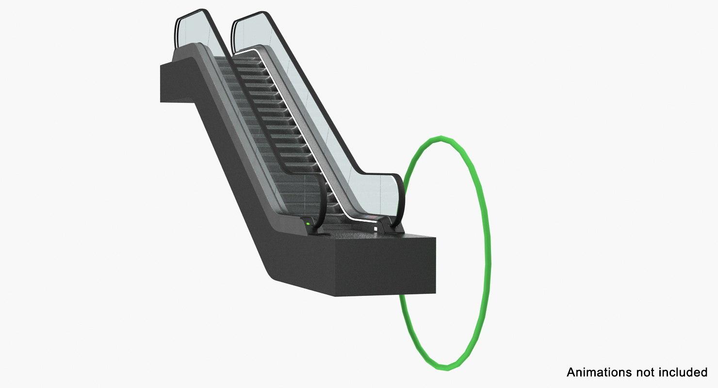 escalator moving walkway rigged 3D model