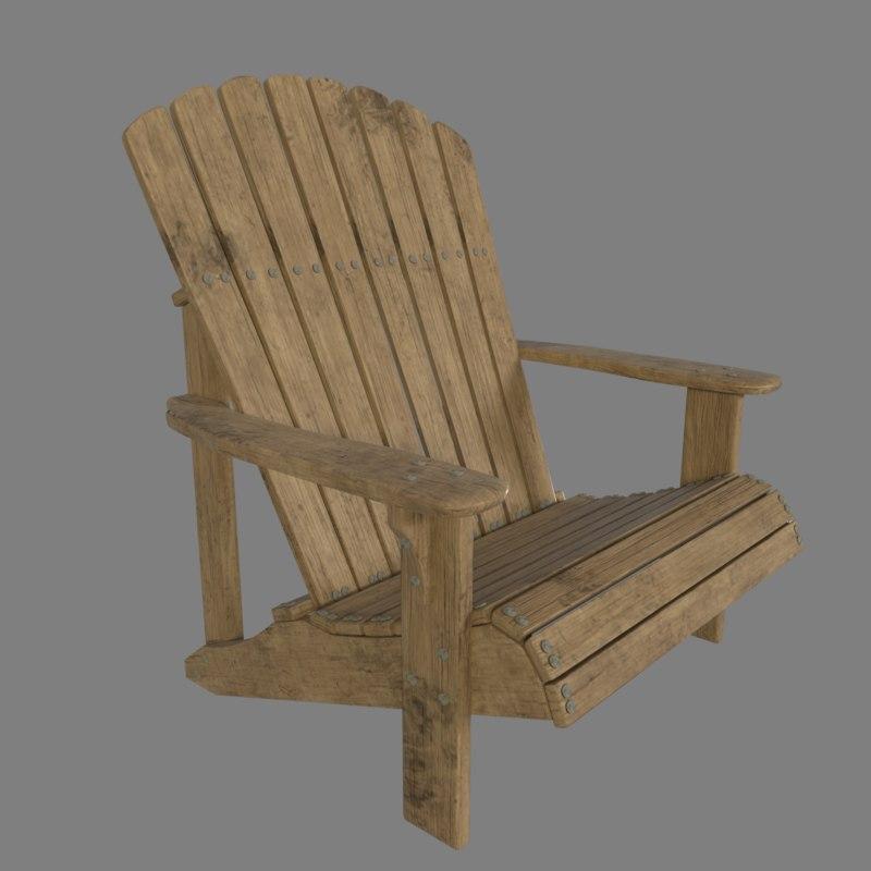 3D blender chair