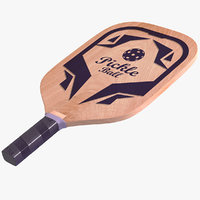 3D pickleball paddle racket model
