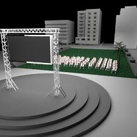 3D stand events model
