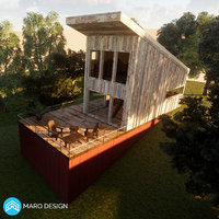 Wood House 2 Revit