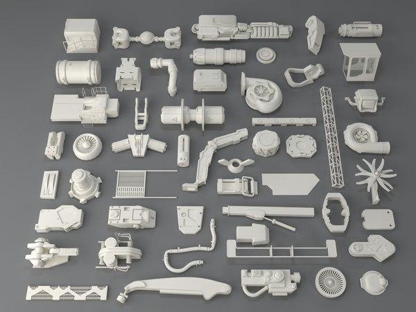 kit bashes - 52 3D model