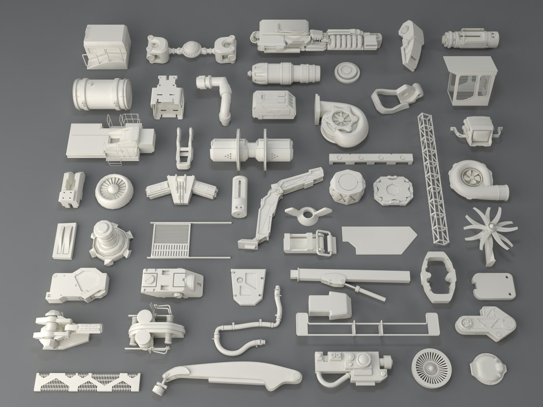 kit bashes - 52 3D model