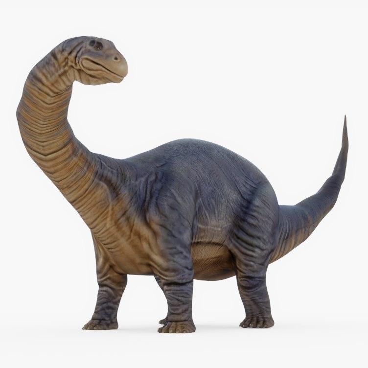 dinosaurs rigged 3D model