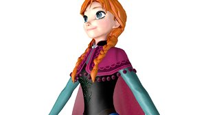 anna frozen 3D model