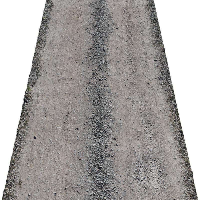 ultra realistic sandy road 3D model