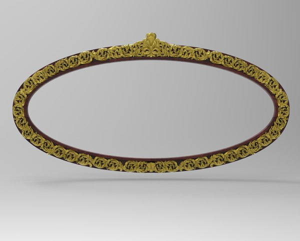 frame mirror carving 3D model