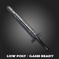 low-poly short sword 3D