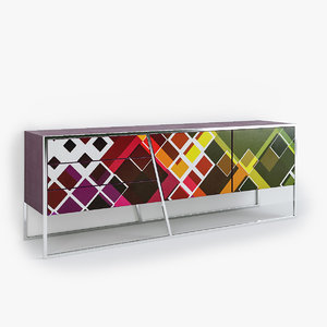 3D sideboards architecture model
