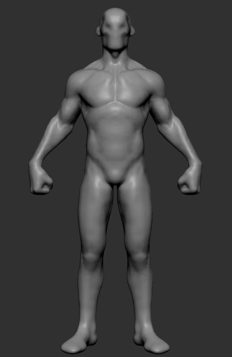 stylized body 3D model