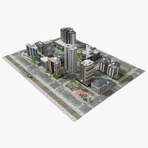 3D city buildings