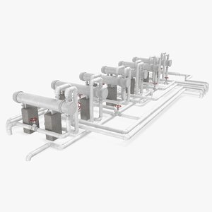 3D refinery heat exchanger