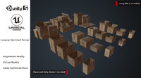 Cardboard Boxes Pack AR VR Low Poly 3D Game Assets Collection