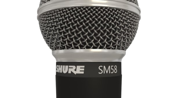 shure sm58 microphone 3D