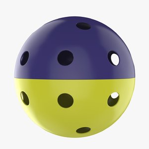 pickleball ball 3D model
