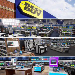3D real-time best buy scene