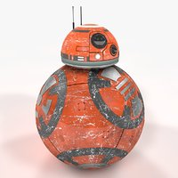 3D bb-8 star wars new model