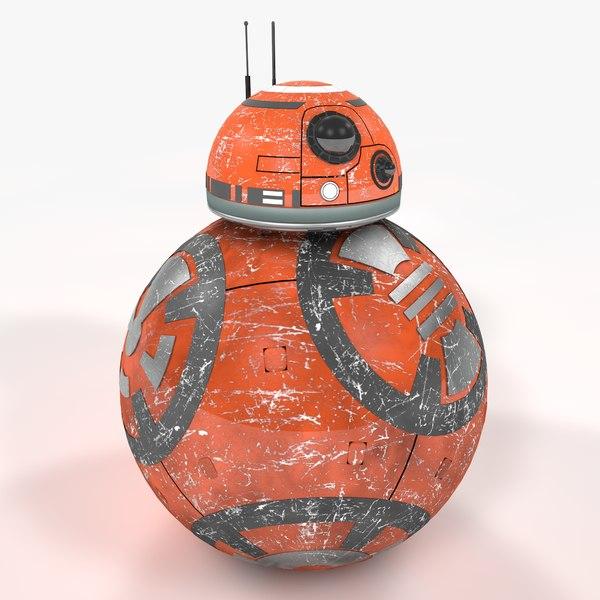 3D bb-8 star wars new model
